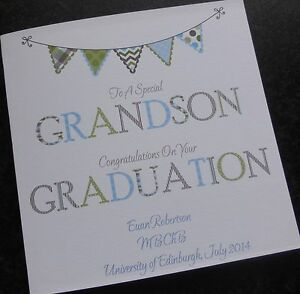 Personalised Congratulations On Your Graduation Card Gr2 Male Or