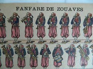 Disegno Epinal Fanfara Di Zuavi & Fanteria Imaging Pellerin N° 216 Militaire