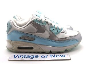 big sale cf772 f7361 Image is loading Girls-Nike-Air-Max-039-90-CL-Silver-