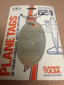 Douglas-DC-3-American-Airlines-Flagship-Tulsa-Plane-Tag-Planetags-Free-Ship