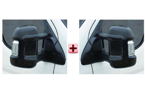 Peugeot Boxer Door Mirror Casing PROTECTOR Protectiv Cover BLACK MEDIUM Set 2006