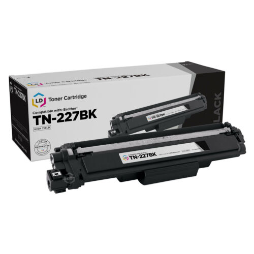 LD Compatible Brother TN-227BK High Yield Black Toner Cartridge with Chip