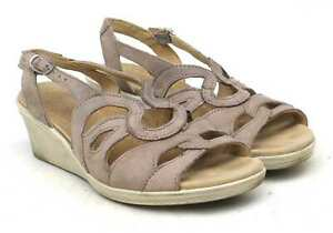 Hotter-Womens-UK-Size-4-Brown-Leather-Sandals
