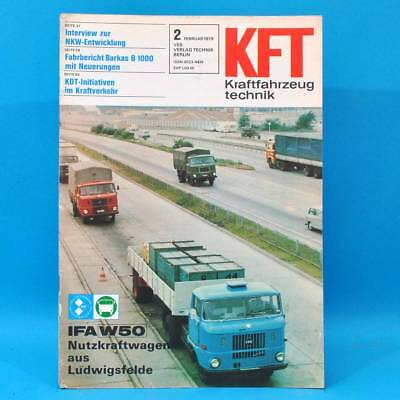 Ddr Kft Kraftfahrzeugtechnik 2/1979 W 50 Barkas B 1000 Mitsubishi Sapporo Bmw 22