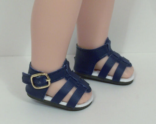 "Debs NAVY BLUE Strappy Sandals Doll Shoes For 14/"" American Girl Wellie Wishers"