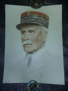 Affiche-couleur-Portrait-du-Marechal-PETAIN-Editions-BRAUN-40-x-30-cm