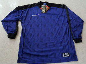 67bfafb6e4e Image is loading Umbro-Goalkeeper-Jersey-Retro-Vintage-90s-Padded-Adult-