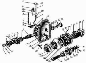 MTS-Belarus-Allrad-52-82-Getriebe-Umbausatz-Welle-Zahnrad-Dichtung-Lager