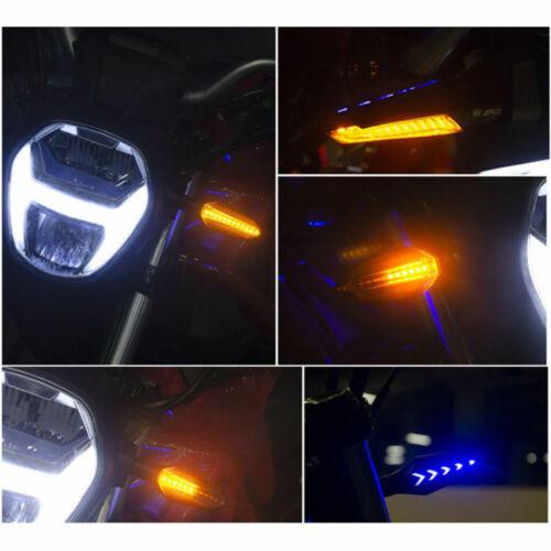 2PCS Universal Motorcycle LED Turn Signal Lamp Flowing Indicator Lights Amber
