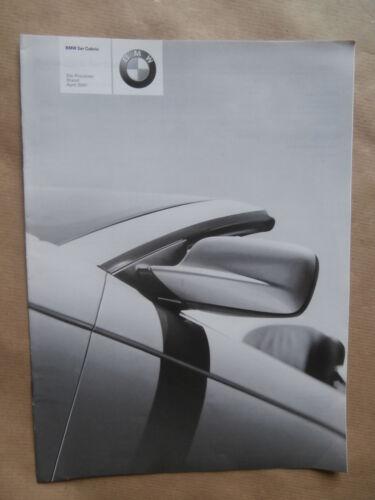 Individual BMW 320Ci 325Ci 330Ci E46 Cabrio Preisliste  4//2001 Pricelist