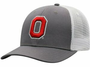 OHIO-ST-BUCKEYES-NCAA-TRUCKER-ADJUSTABLE-2-TONE-SNAPBACK-CAP-HAT-NWT-FOOTBALL