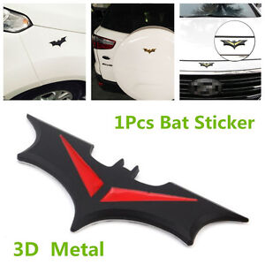 Details About Metal Bat Style Car Sticker For Side Door Front Cover Spare Tire