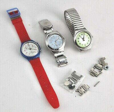 3 Swatch Uhren, Getragen Reines Und Mildes Aroma