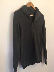 Ralph-Lauren-Polo-Wollmischung-Pullover-kleine-Strick-Top-Grau-Hoher-Ausschnitt-Winter-p2