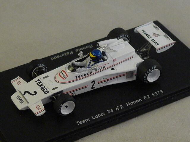 Spark S1776 - LOTUS 74 n° 2 F2 Rouen 1973 Ronnie Peterson 1 43