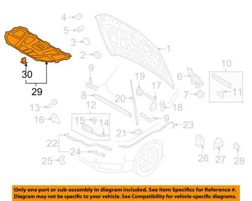 AUDI OEM 09-16 Q5 Hood-Insulation Pad Liner Heat Shield 8R0863825