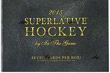 2015/16 Hockey Hobby Box NHL Sealed ITG Superlative In The Game 7 Cards Per Box
