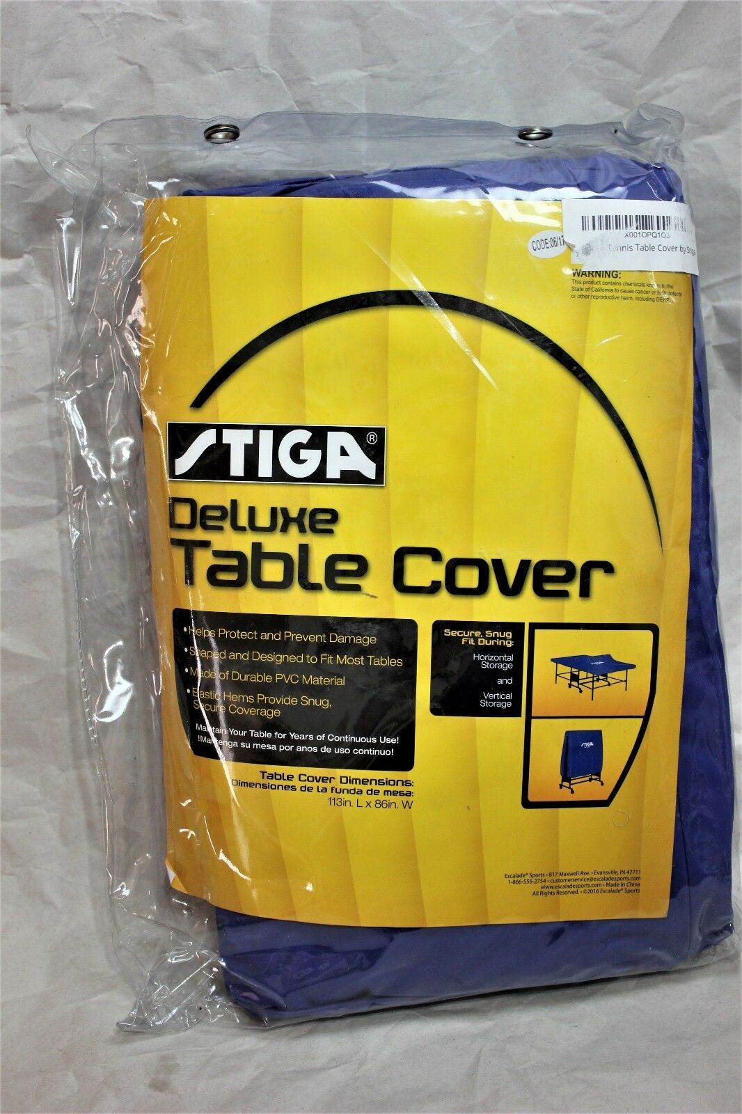 STIGA Indoor Table Cover Ping Pong Table Tennis Fold Cover New