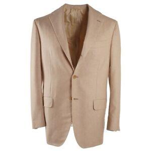NWT-7495-KITON-Tan-Soft-Brushed-Cashmere-and-Silk-Sport-Coat-38-R-Eu-48