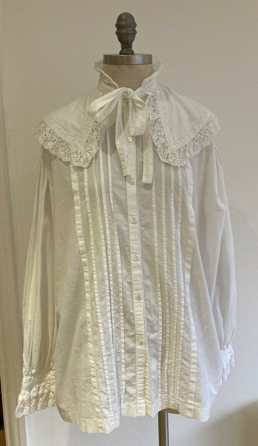 Laura Ashley Victorian/Edwardian Style Blouse, Size Large, Made in Wales