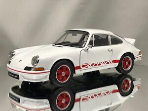 Welly-NEX-PORSCHE-911-CARRERA-RS-2-7-1973-Bianco-e-Rosso-Modello-Diecast-Auto-1-18