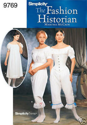 NEW OUT OF PRINT CIVIL WAR Drawers Chemise Corset PATTERN 2890 8-10
