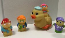 Playskool Glo Dipper Duck with 4 Ridealong Friends Gloworms collectible toys#300