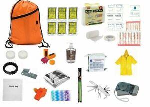 3-Day-Emergency-Survival-Kit-Food-Water-Whistle-Bag-Sack-Earthquake-ORANGE