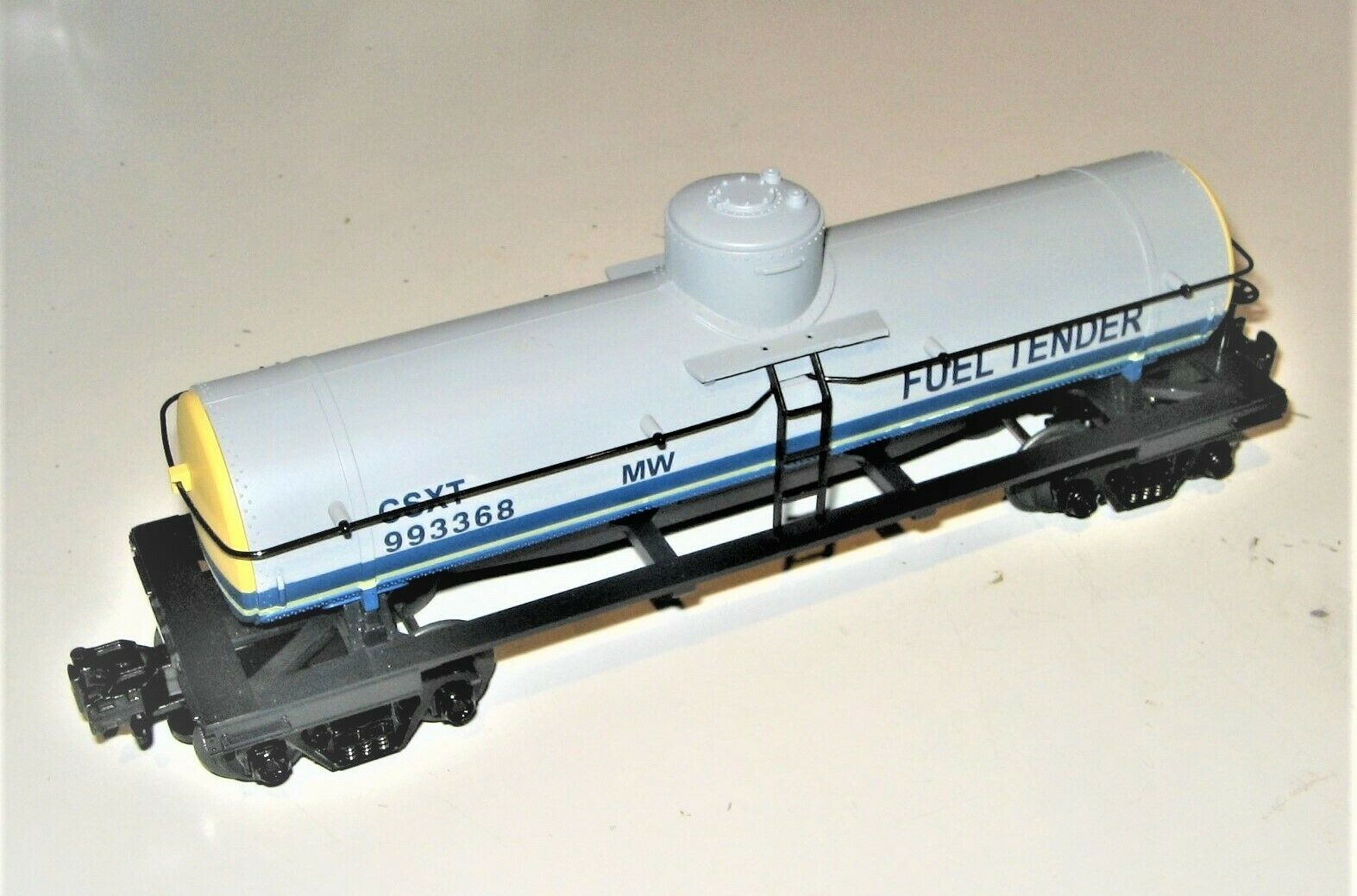 MTH CSXT Fuel Tender 993368 Tank auto Prossootype 027O Scale Mint nuovo