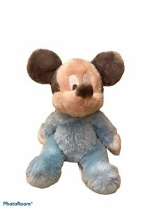 """Disney Parks Baby Blue Mickey Mouse Plush Chime Rattle Stuffed Animal 9"""""""