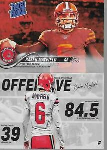 purchase cheap 63aa9 d0c06 Details about BAKER MAYFIELD RATED ROOKIE RED - CLEVELAND BROWNS ART CARD  EDITION ORIGINAL