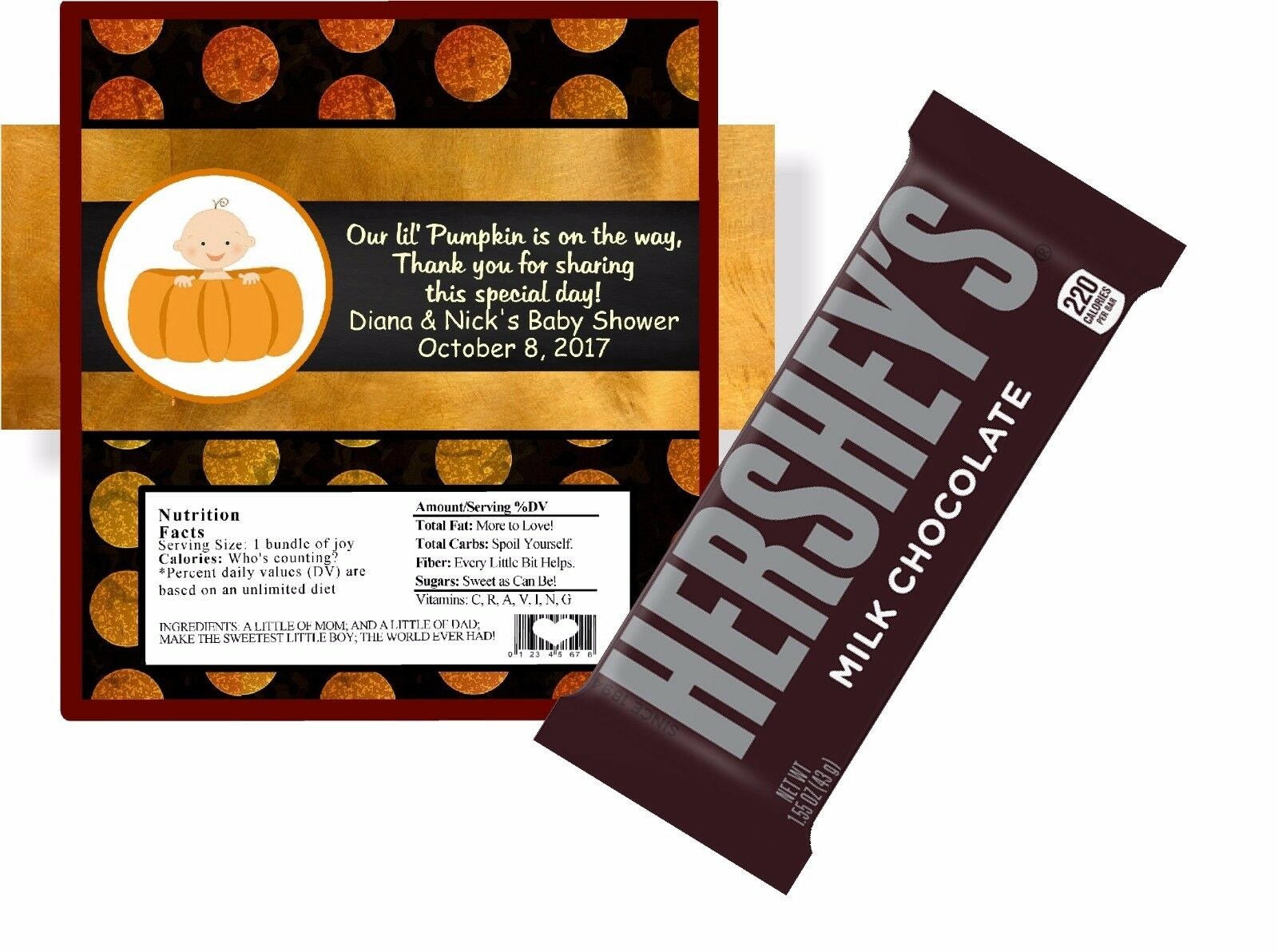 10 Ultrasound Personalized Baby Shower Hershey Candy Bar Wrappers Girl Boy Party