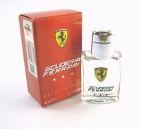 Ferrari Scuderia Red For Men Ferrari Edt Splash Miniature 0.13 Oz In Box