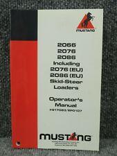 Oem Factory Mustang 2066 2076 2086 Skid Steer Loader Operators Handbook Manual