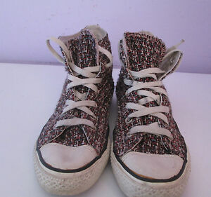Canvas Top Converse Sze 5 5 Chuck Pattern Trainer scarpa Hi Vtg Unisex Pink Taylor q86Ug4