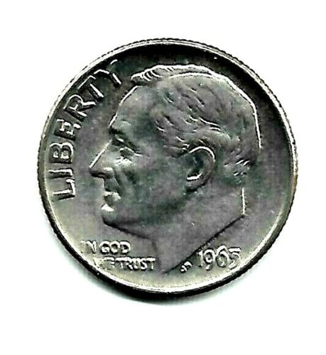 1965 P Roosevelt Dime An Uncirculated Coin Finish Your Dime Book #6402