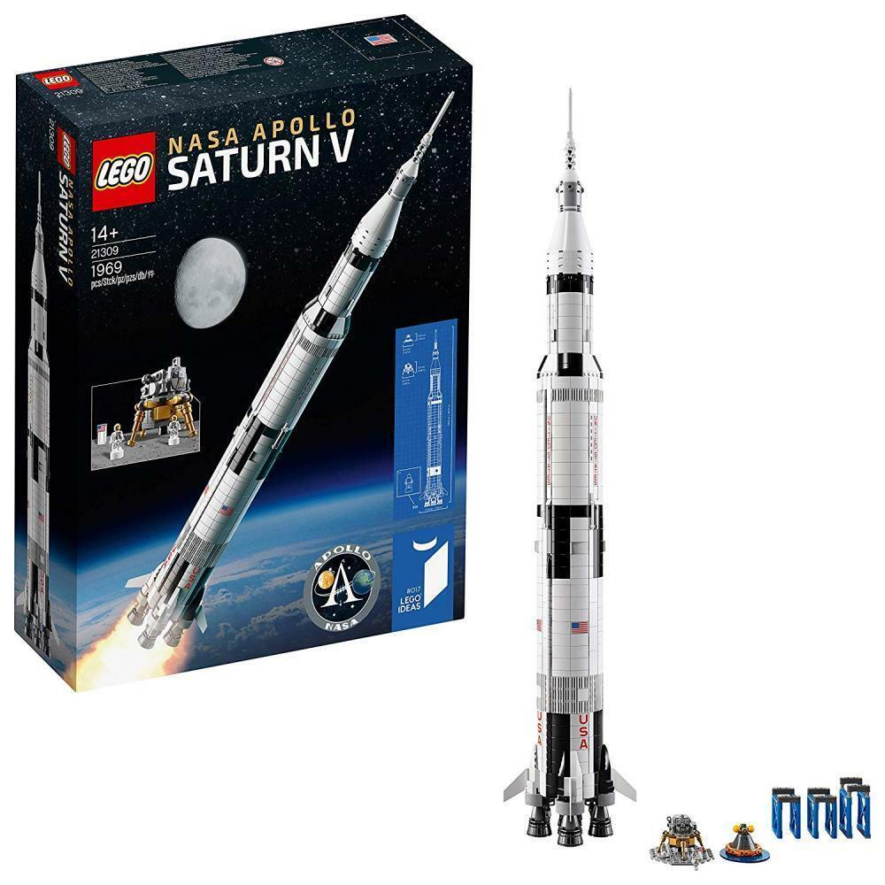 Lego 21309 - NASA Apollo Saturn V Kinder Spielzeug Rakete für Jungen ab 14 NEU