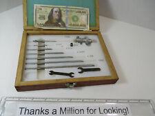 Starrett 124 M 124 Id Micrometer Set 50 Mm 200 Mm Metric Non Oem Case Ec