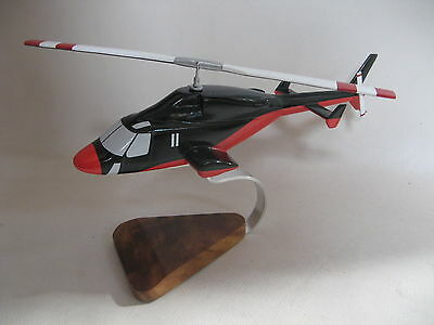 Bell 222 Airwolf Enemy Redwolf Helicopter Wood Model Ebay
