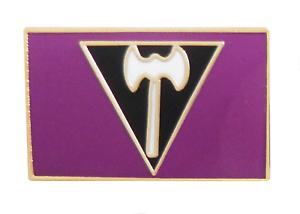 Lesbian (Labrys) LGBTQ+ Pride Gold Plated Pin Badge