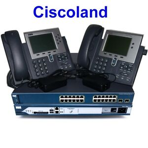 Details about Cisco CCNA Voice Collaboration Lab Kit 2811 256D/128F CME 8 6  + 3560-PS + 2x7940