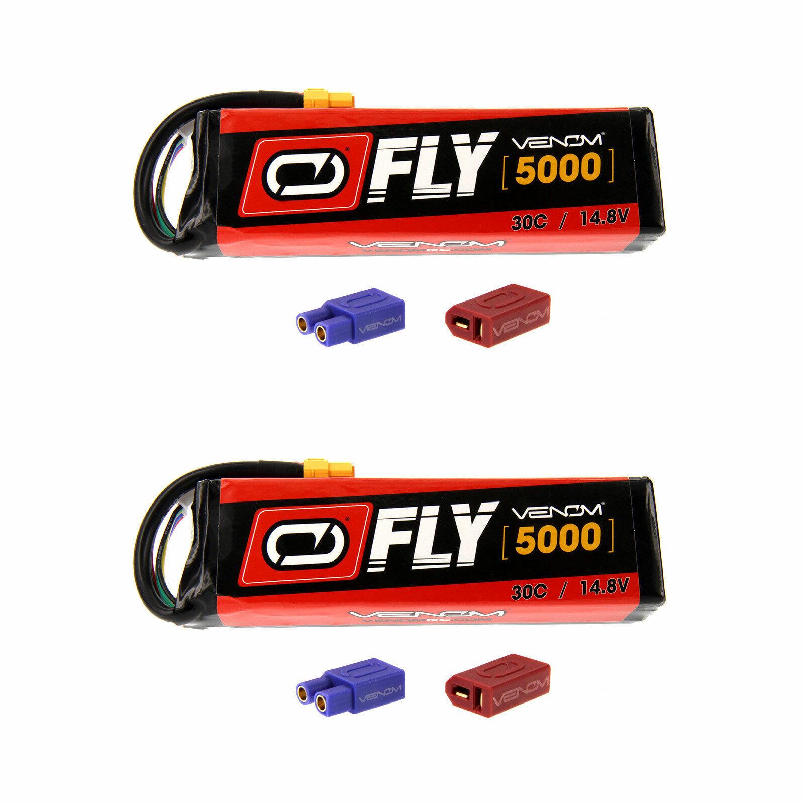 Venom volar 30C 4S 5000mAh 14.8V Batería Lipo Con Enchufe x2 Uni 2.0 paquetes