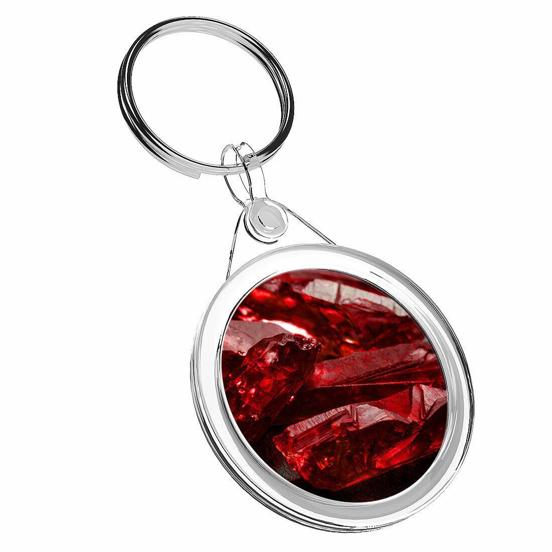 1 cristales de Rubí Rojo Sin Cortar x Deep-Llavero IR02 mamá DAD Niños Regalo de Cumpleaños #3613