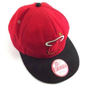 Miami Heat New Era 9FIFTY NBA Adjustable Snapback Hat Cap Flat Brim Heat Back