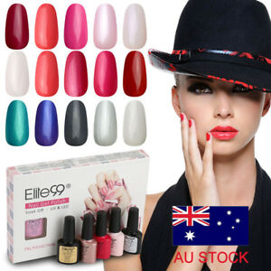 Elite99-UV-Gel-Polish-Soak-Off-5-Colors-Nail-Varnish-Gift-Manicure-Kit-AU-STOCK