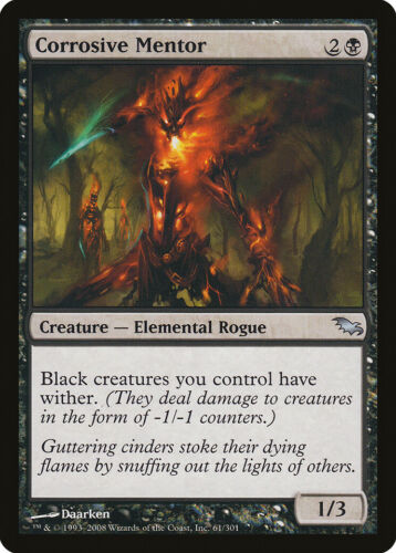 Corrosive Mentor Shadowmoor NM-M Black Uncommon MAGIC GATHERING CARD ABUGames