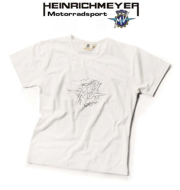 ORIGINAL MV AGUSTA T-shirt femmes LOGO BLANC M NEUF pierres-strass donna lady