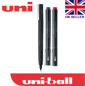 Uni pin 0.3 mm Dibujo Bolígrafo ultra fina línea Marcador Negro Rojo Pack 3 Azul