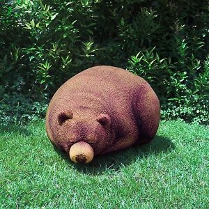 Sleeping Grizzly Bear Cub Bean Bag Chair Knitted Design
