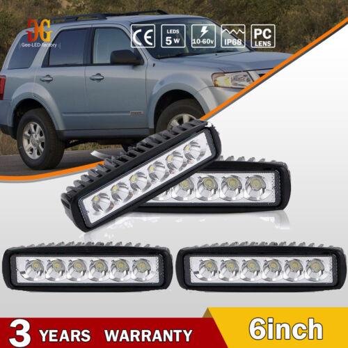 """4x Slim LED WORK LIGHT BAR SPOT BEAM OFFROAD ATV FOG TRUCK LAMP BOAT 4WD 12V 6/"""""""